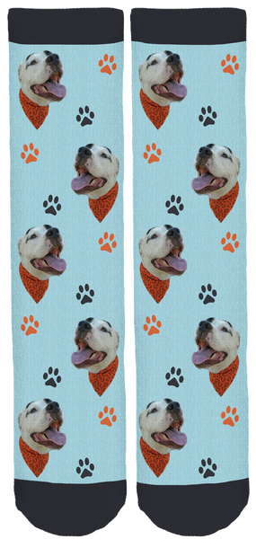 Rowdy the Pitbull Crew Socks