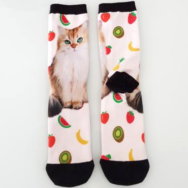 Smoothie the Cat Fruit Socks