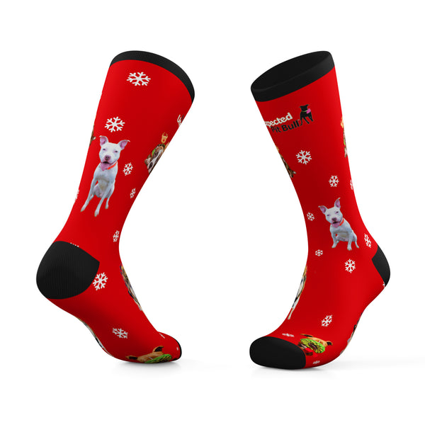 The Unexpected Pit Bull Holiday Crew Socks