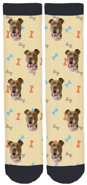 Hazel the Pitbull Crew Socks