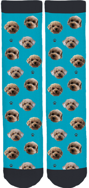 Pennie The Poodle Crew Socks
