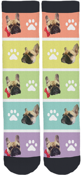 Frida the Frenchie Friendship Crew Socks