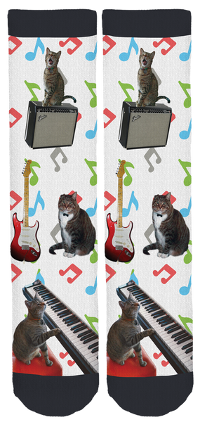 Oskar the Blind Cat & Klaus Crew Socks