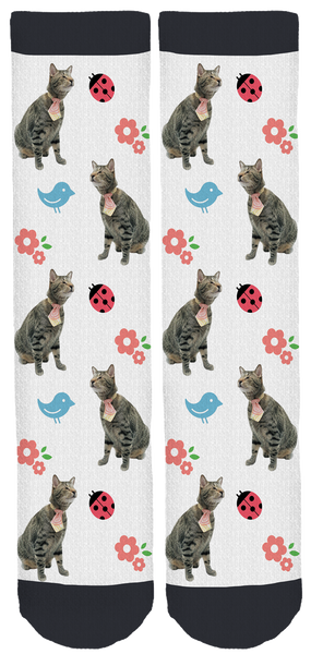 Oskar The Blind Cat Crew Socks