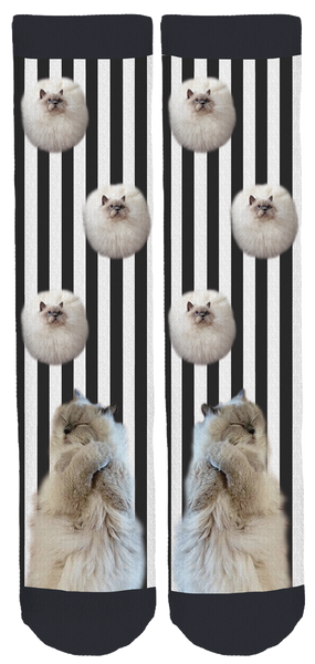 Bonnie and Clyde Kittie Socks