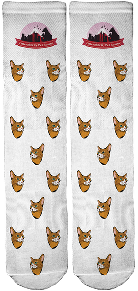 Limited Edition Emerald City Pet Rescue Bamboo Crew Socks!