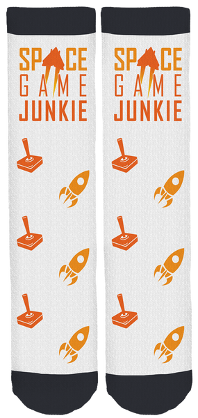 Space Game Junkie Crew Socks