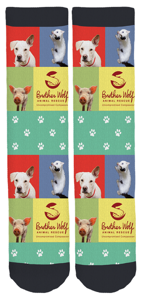 Brother Wolf Animal Rescue Crew Socks