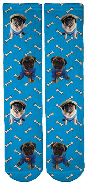 Limited Edition Bubblebecca Pugs Crew Socks