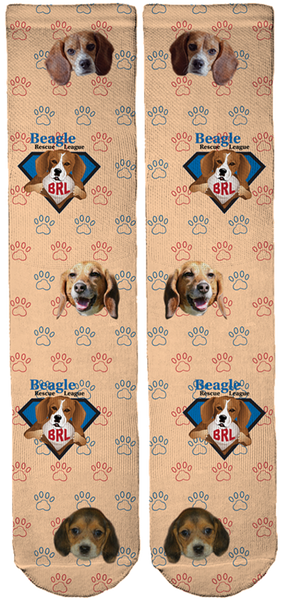 Beagle Rescue League Crew Socks