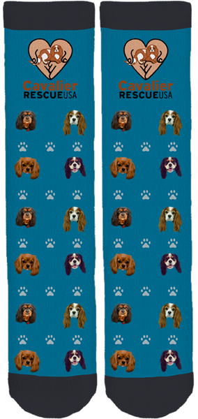 Cavalier Rescue USA Crew Socks