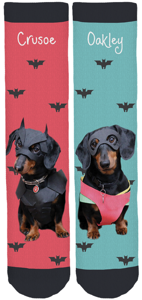 Crusoe the Celebrity Dachshund Crew Socks