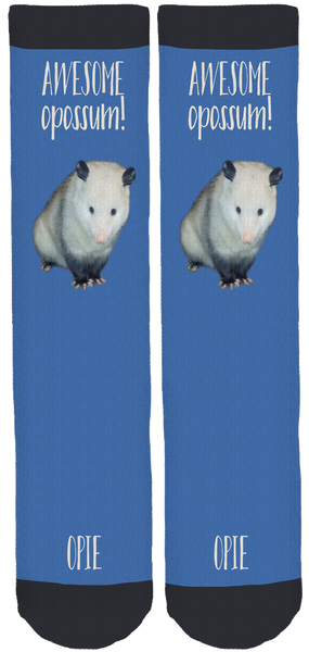 Opie the Awesome Opossum Socks