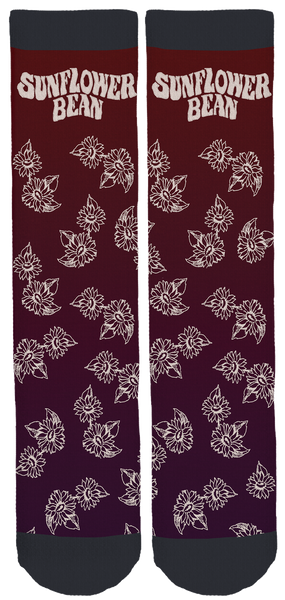 Sunflower Bean Maroon Crew Socks