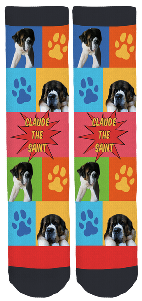 Claude the Saint Crew Socks