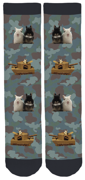 Tales of Two Rabbits Crew Socks