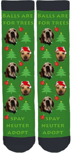 Every Dog Counts Rescue Holiday Socks