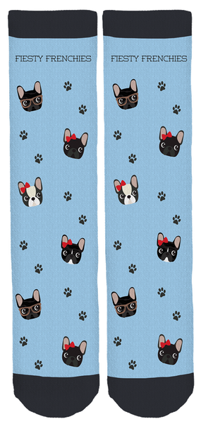Fiesty Frenchies Crew Socks