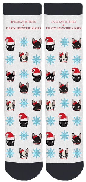 Fiesty Frenchie Holiday Crew Socks