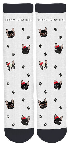 Feisty Frenchies Crew Socks