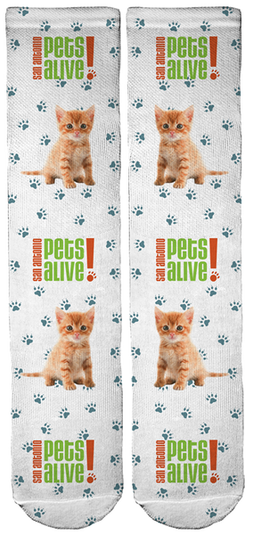 Limited Edition San Antonio Pets Alive! Crew Socks