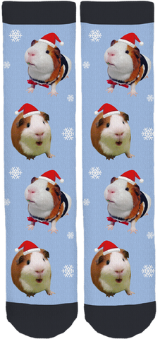 Bruce the Guinea Pig Holiday Socks