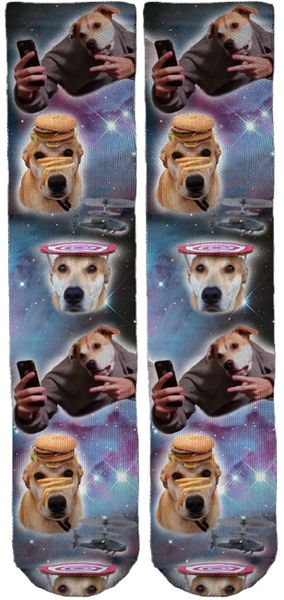 Limited Edition Finley in Space Crew Socks!