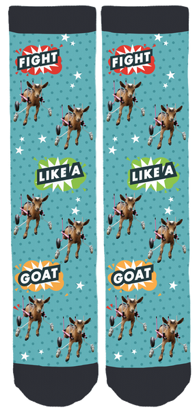 Fight Like A Goat Crew Socks