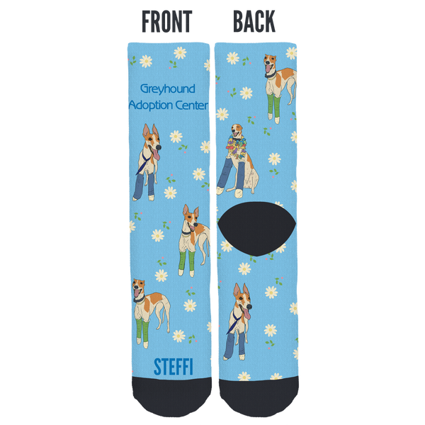 Greyhound Adoption Center Crew Socks