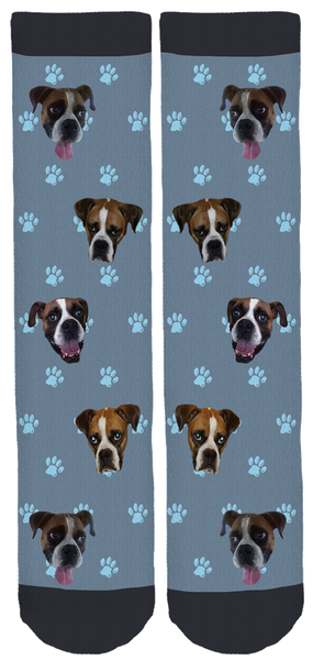 Limited Edition Blue Ridge Boxer Rescue Bamboo Crew Socks