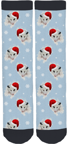 Petunia Opossum Holiday Socks