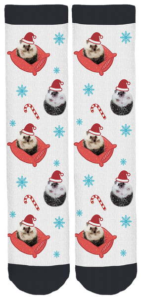 Mr. Pokee the Hedgehog Holiday Crew Socks