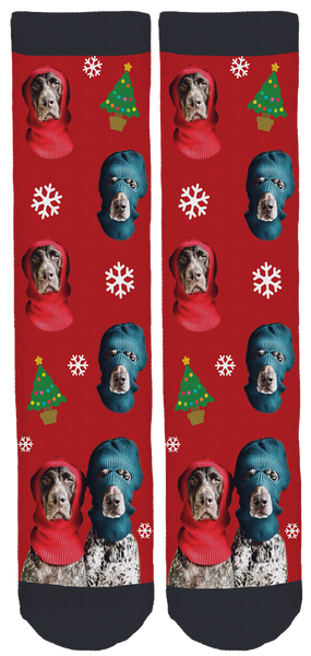 The Pointer Brothers Holiday Crew Socks