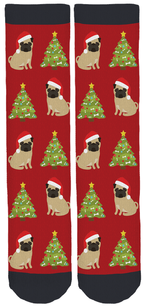 San Diego Pug Rescue Holiday Socks