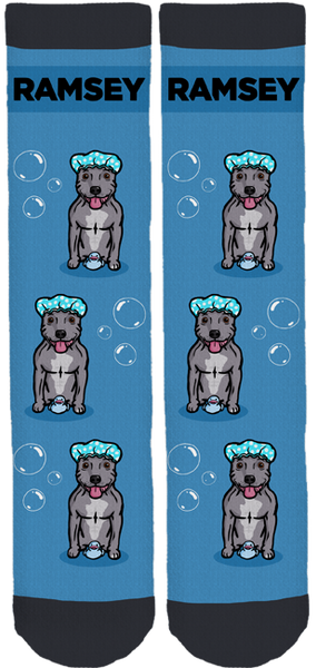 Blue Staffy Ramsey Crew Socks