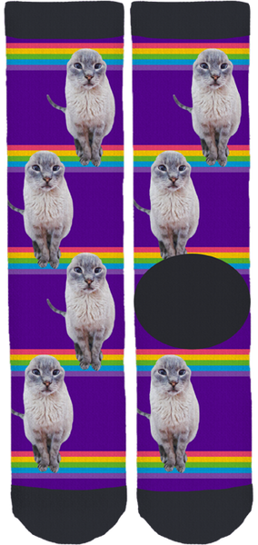 Eddie The Lilac Lion Rainbow Bridge Crew Socks