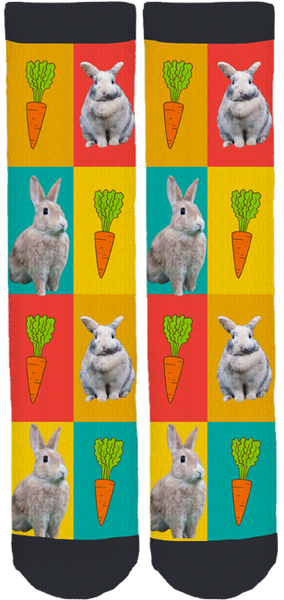 Bandaids for Bunnies Crew Socks