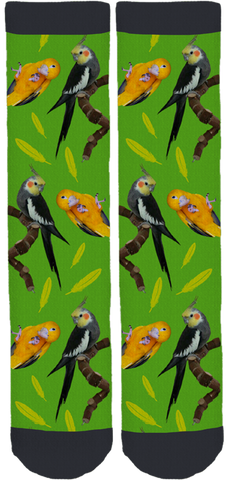 Living with Birds Bamboo Crew Socks