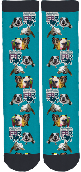 IL English Bulldog Rescue Crew Socks