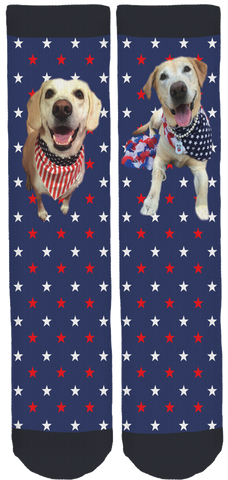 Dusty Lynn And Brodie for Canine Angels Crew Socks