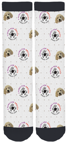 Limited Edition 4 Paws for Ability Crew Socks!