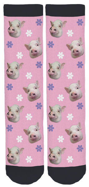 Lollipop the Lucky Pig Crew Socks