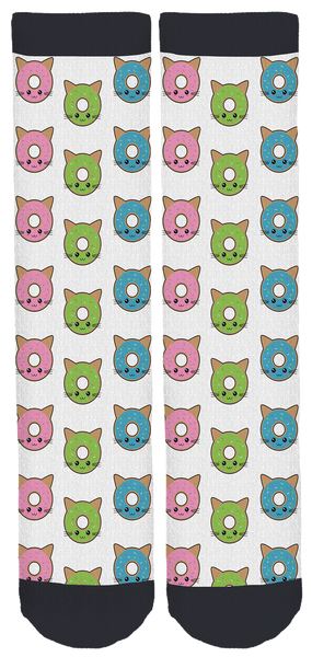 Kawaii Hawaii Cats Crew Socks