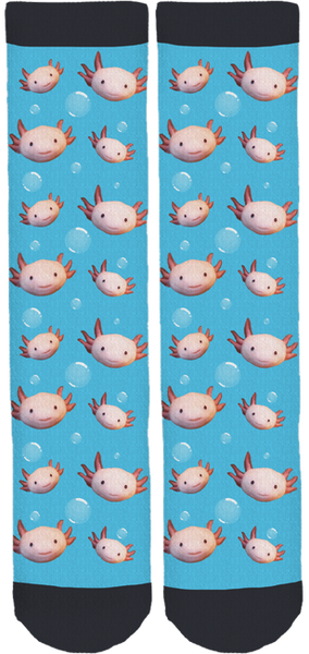 Two Bad Gals Underwater Crew Socks