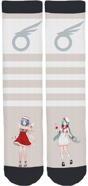 Otafest Seph and Aurora Socks