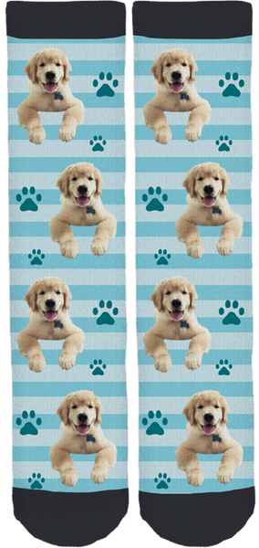 Teddy the Golden Pup Crew Socks
