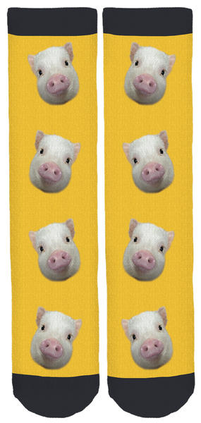 Pumpernickel the Mini Pig Crew Socks