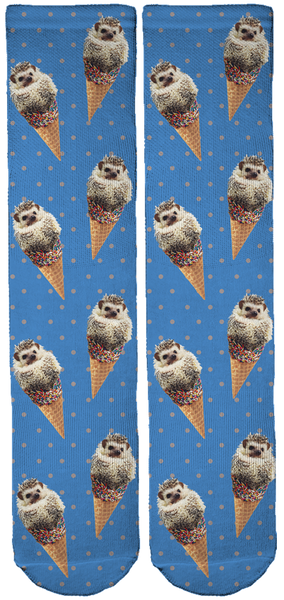 Limited Edition Lionel The Hedgehog Bamboo Crew Socks!