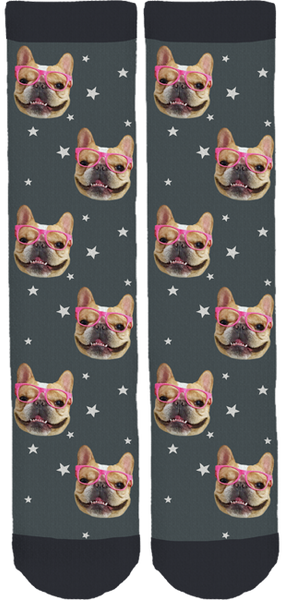 Chloe The Mini Frenchie Crew Socks