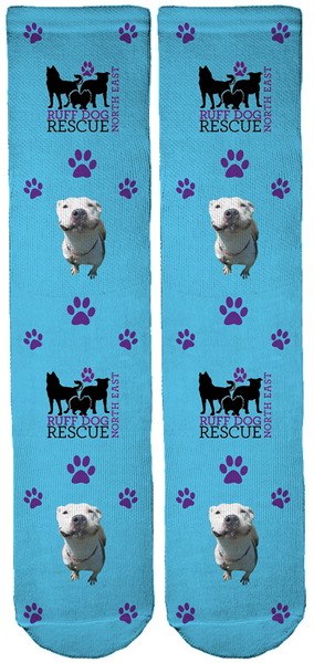 Ruff Dog Rescue North East Crew Socks